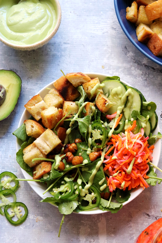 Roasted Chickpea Banh Mi Salad