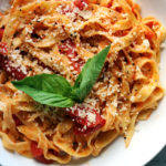 Homemade Fettuccine with Easy Tomato-Basil Sauce
