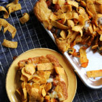 Vegetarian Frito Chili Cornbread Slab Pie