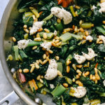 Swiss Chard with Buttered Pine Nuts, Tahini, and Yogurt