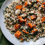 Quinoa and Wild Rice Salad with Sweet Potatoes, Feta, and Sumac