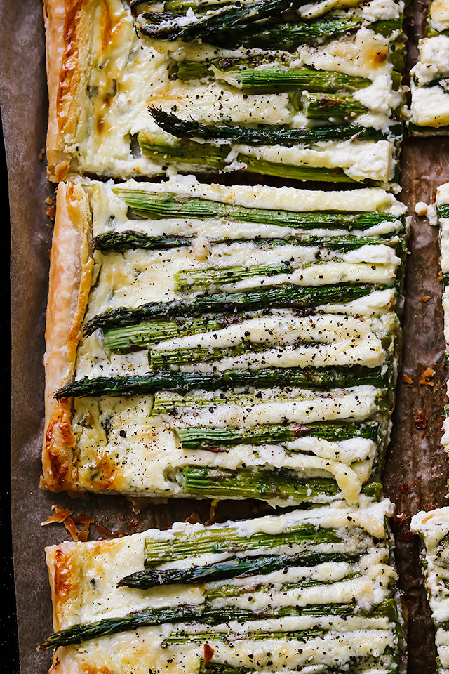 Asparagus, Goat Cheese, and Chive Tart
