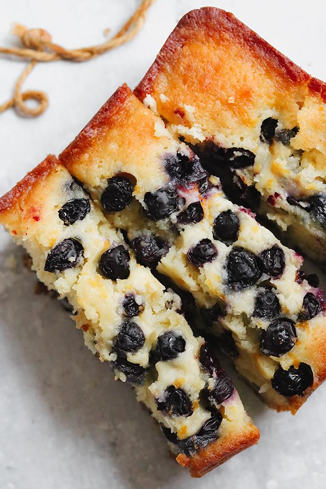 Blueberry Lemon Coconut Loaf Cake