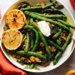 Creamy Spiced Chickpea Stew with Burnt Lemon and String Beans