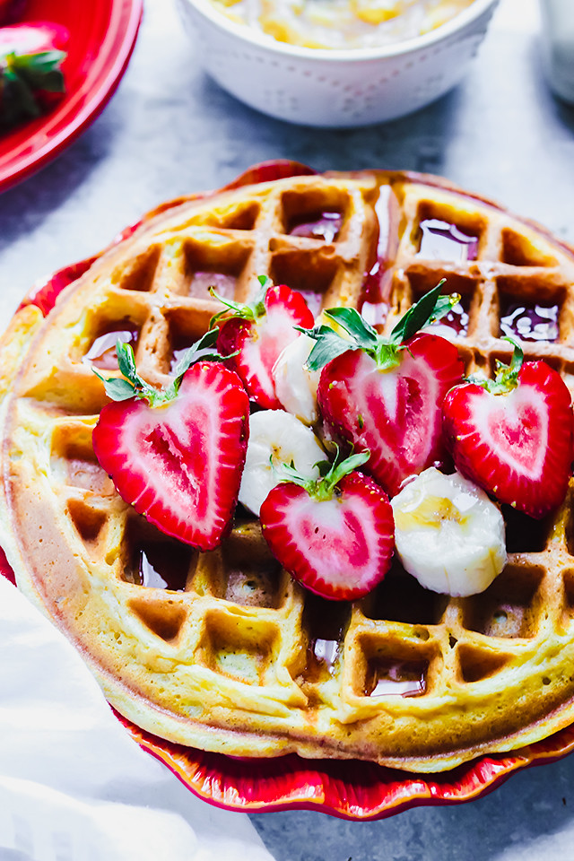 Buttermilk Waffles with Browned Honey Butter