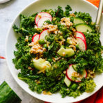 Farro and Kale Salad with Saffron Vinaigrette