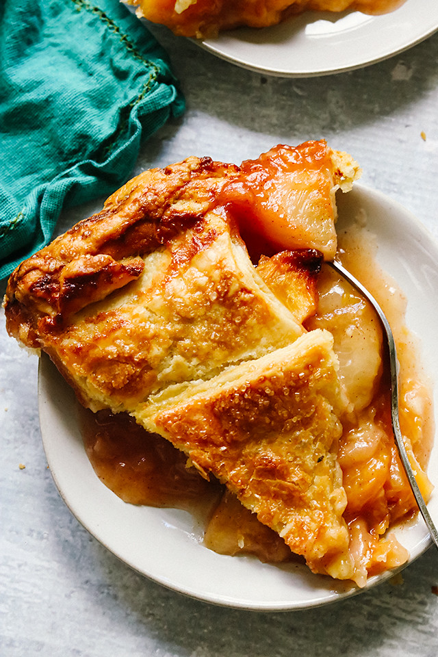 Peach Caramel Pie