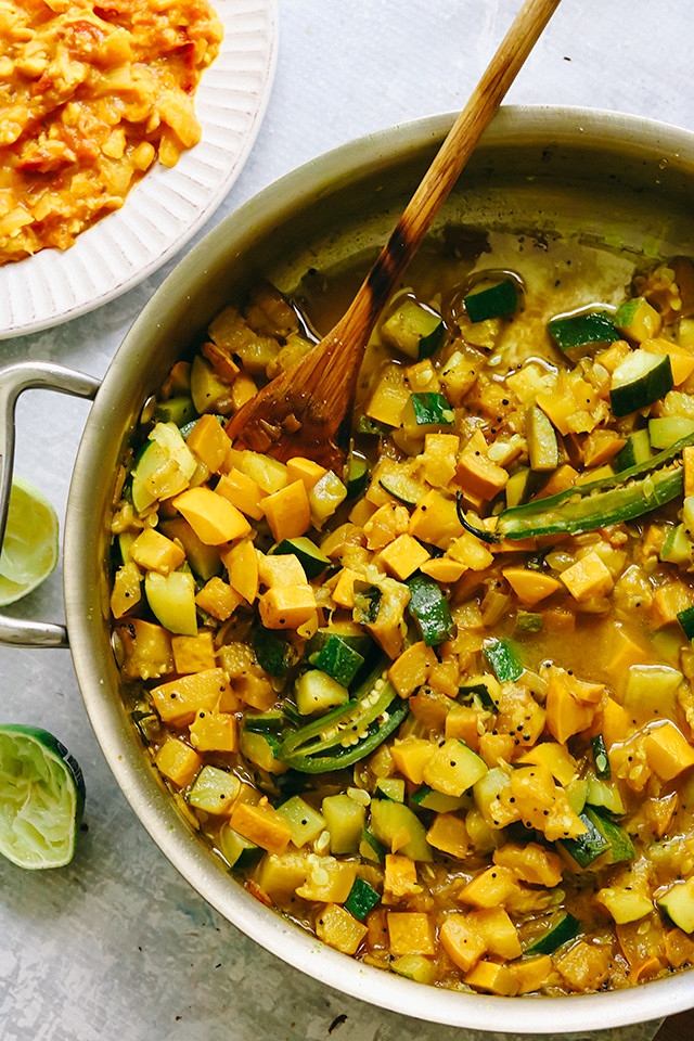 South Indian-ish Summer Squash