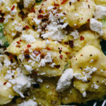 Tortelloni with Corn Crema and Charred Scallions