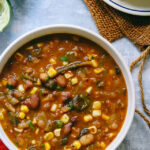 Vegetarian Roasted Poblano and White Bean Chili