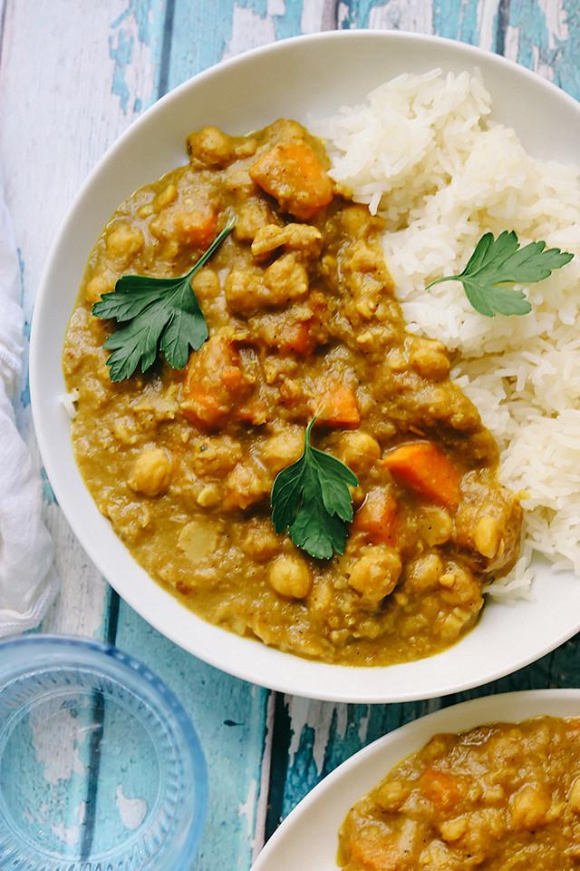Vietnamese Chickpea, Sweet Potato, and Lemongrass Curry