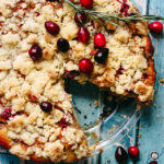 Caramel Apple Cranberry Almond Tart