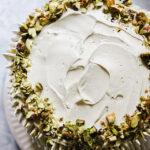 Pistachio Truffle Layer Cake
