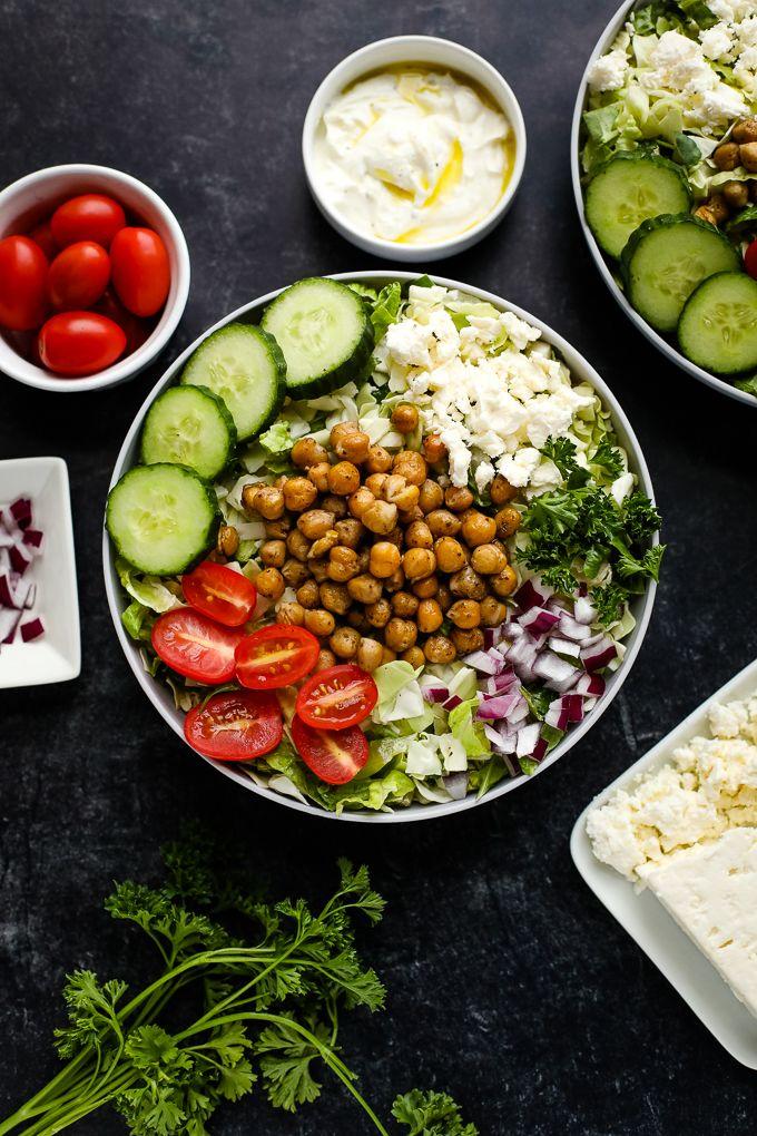 Mediterranean chickpea bowls