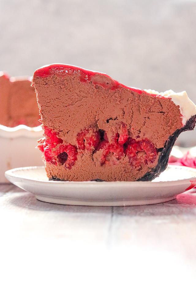 Chocolate Covered Raspberry Pie