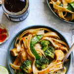 30 Minute Creamy Coconut Red Curry Vegetable Peanut Noodles