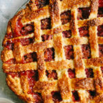 Rhubarb Raspberry Lattice Pie