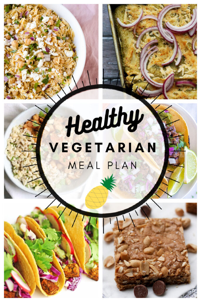 Healthy vegetarian meal plan week 17/52 collage