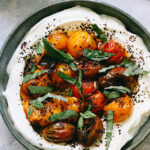 Ottolenghi's Charred Roasted Cherry Tomatoes with Cold Yogurt