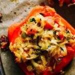 Spicy Paneer Stuffed Peppers