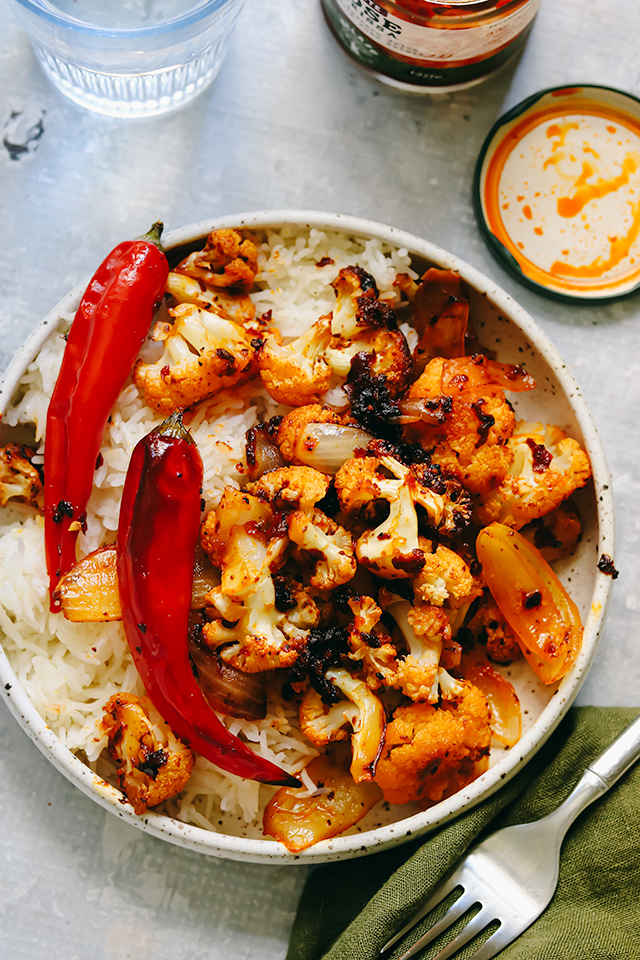 Roasted Cauliflower in Chile Butter