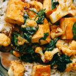 Thai-Inspired Tofu Rama in Peanut Curry Sauce