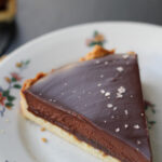 chocolate-caramel tart with sea salt from Eats Well With Others